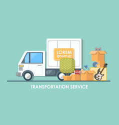 truck for transportation flat vector image
