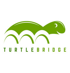turtle bridge logo vector image