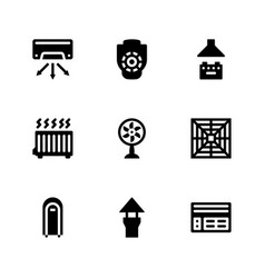 Ventilation glyph icons vector