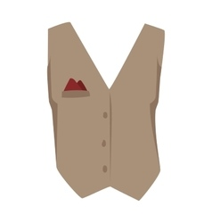 Vest waistcoat vector image