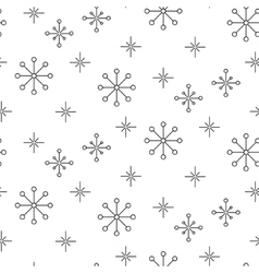 Vintage snowflake simple seamless pattern vector