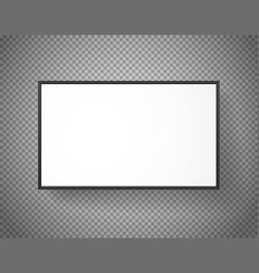 White paper picture frame on transparent vector