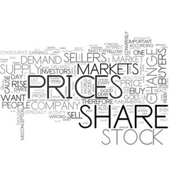Why do share prices change text word cloud concept vector
