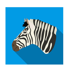 Zebra icon in flat style isolated on white vector