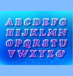 air bubble font vector image vector image