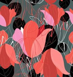 Beautiful pattern of red leaf vector image