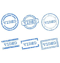 Video stamp vector image vector image