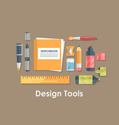 design and drawing tool flat vector image vector image