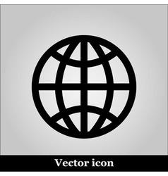 globe icon on grey background vector image vector image