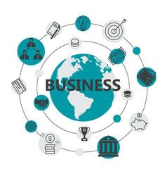 international business flat design vector image vector image