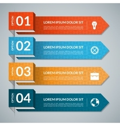 template for infographics 4 options vector image