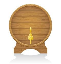 wooden barrel 02 vector image vector image