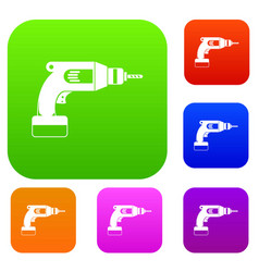 drill set color collection vector image vector image