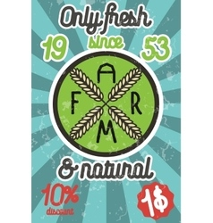 Farm colorful banner vector image vector image