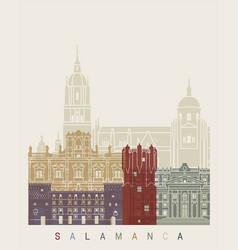 salamanca skyline poster vector image