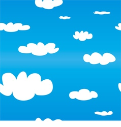 Seamless spring pattern with white clouds blue sky vector image