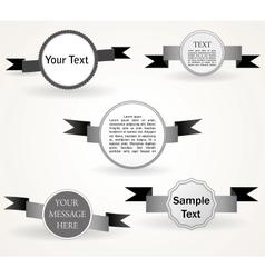 set of retro labels vector image vector image