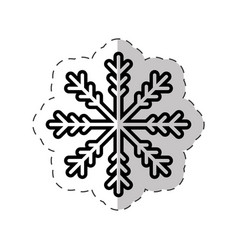 snowflakes winter decoration cut line vector image