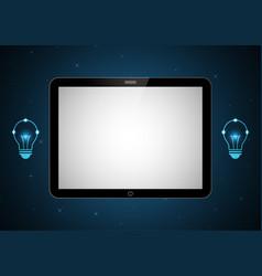 technology future tablet light bulb vector image