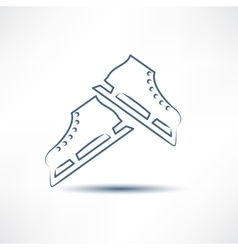 two white skates vector image vector image