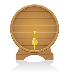 wooden barrel 03 vector image vector image