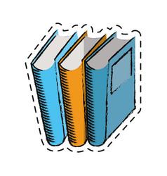 Cartoon book library read learn vector