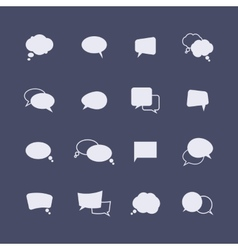 Set of simple speech bubble icons on the dark vector image vector image
