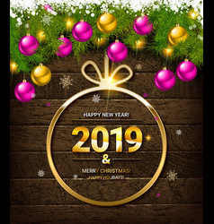 2019 new year greeting vector image