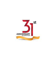 31 anniversary design logotype red color vector