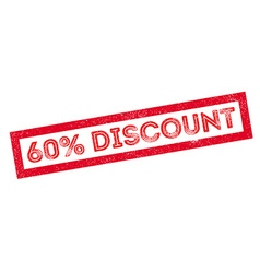 60 percent discount rubber stamp vector