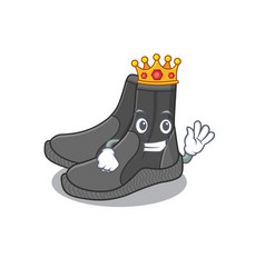 A humble king dive booties caricature design vector