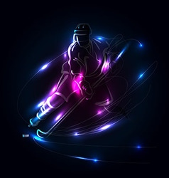 Abstract background with hockey player vector