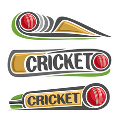 Abstract set for cricket game vector
