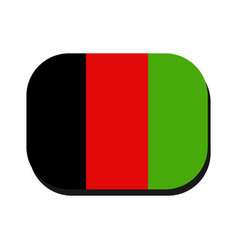 afghanistan flag on white background vector image