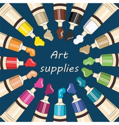 Art supplies for school vector