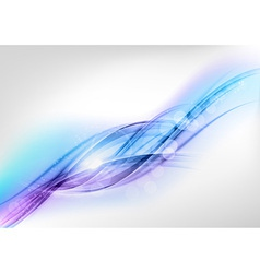 background blue wave white horizontal vector image