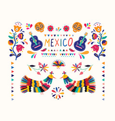banner mexico vector image