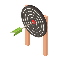 black target icon isometric style vector image