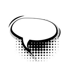 Blank template comic speech oval lines bubble vector