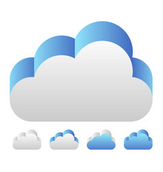Blue 3d cloud icon icon for tech technology or vector