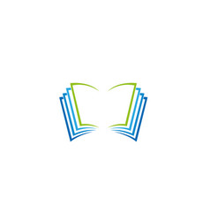 book pages logo vector image