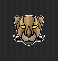 Cheetah logo design template cheetah head icon vector