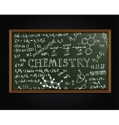 Chemistry blackboard vector