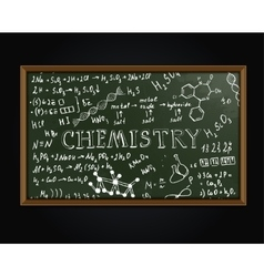 Chemistry blackboard vector image