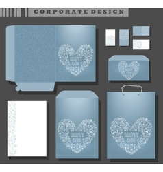 Corporate template design cosmetics and self care vector