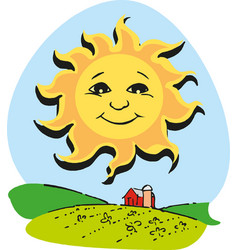 Cute cartoon sun eps 10 vector