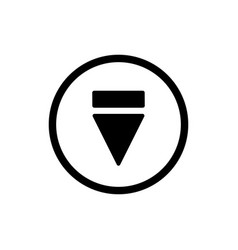 Eject button icon outline solid eject button vector