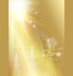 electric power transmission tower industrial vector image