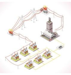 Energy 13 Infographic Isometric vector image