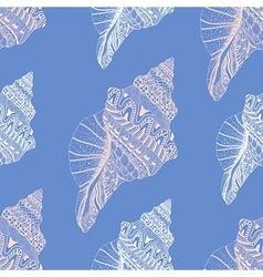 Entangle stylized sea cockleshell seamless vector